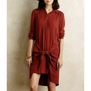 Maeve Anthropologie Button Shirt Dress Bloomsbury